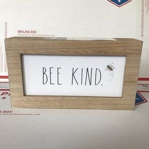 NEW Rae Dunn BEE KIND Wood Sign